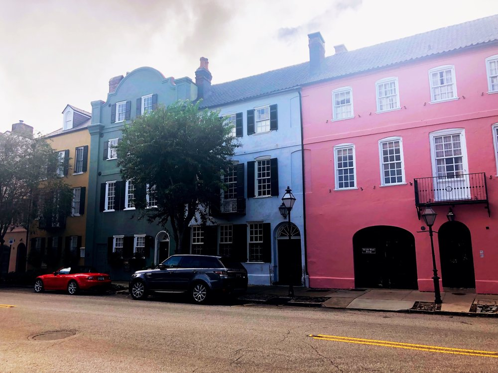 My favorite block of colorful houses - Rainbow Row in Charleston, SC