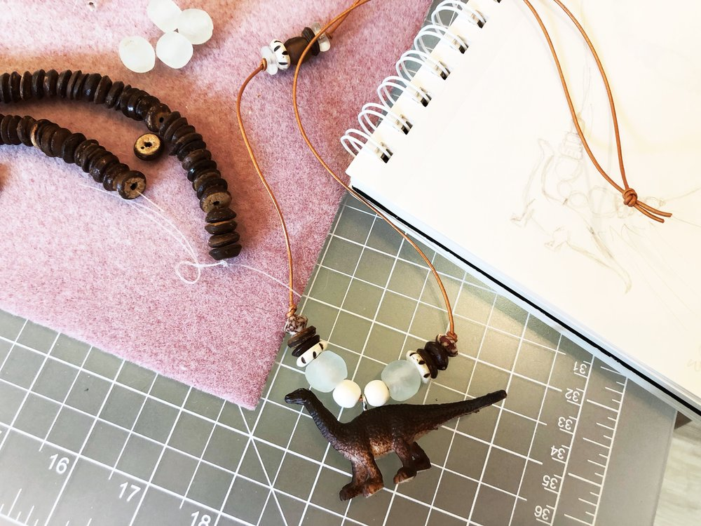 Dinosaur necklace for B