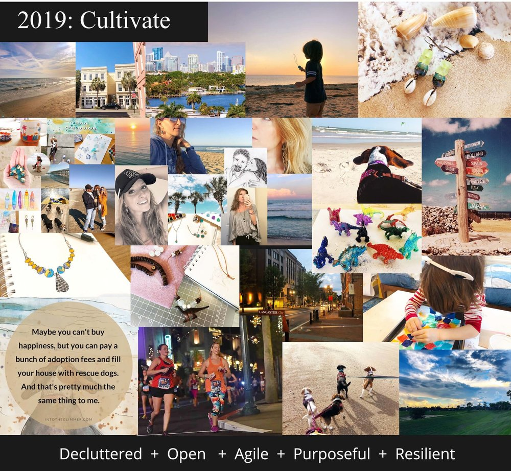 My Vision Board for 2019 - I tweaked it a little bit since I created it, but the idea is the same