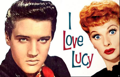 Elvis and Lucy in the 1950s