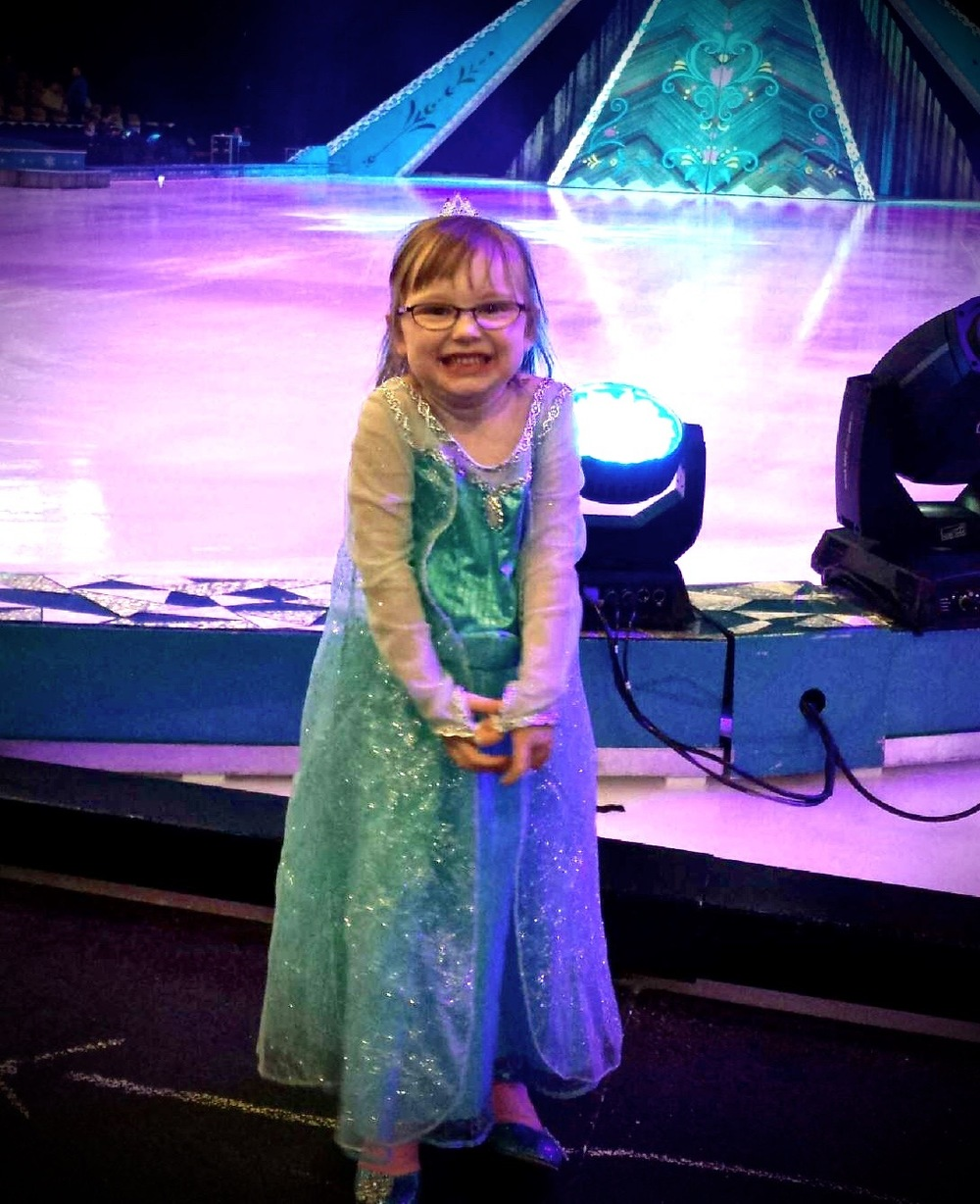No homemade costumes this time, some occasions call for the real thing. My daughter dressed as Elsa for Disney on Ice
