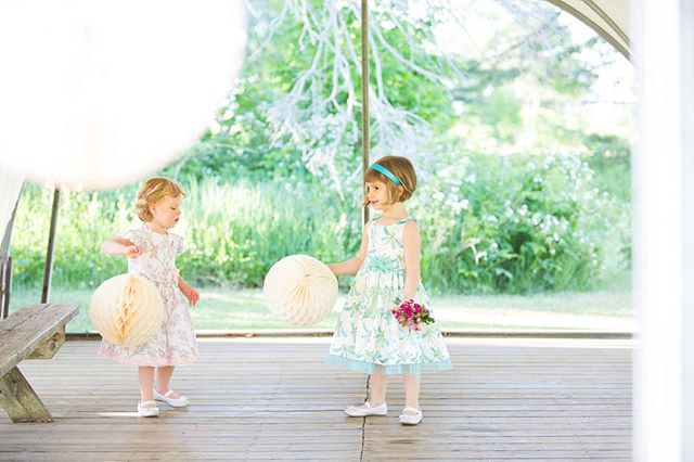 Sweet flower girls! These lovely printed gowns are the perfect way to capture the signature style of a gorgeous wedding. I work with each customer to hand select the perfect print from a bevy of talented artists. The fabric, available in several different styles, is small batch printed in North Carolina. #bygoldenstar #uniquewedding #customflowergirl #customdress #printflowergirldress #floralflowergirldress #mainewedding #newenglandwedding #handmade #madeinmaine 📷@katerenyi