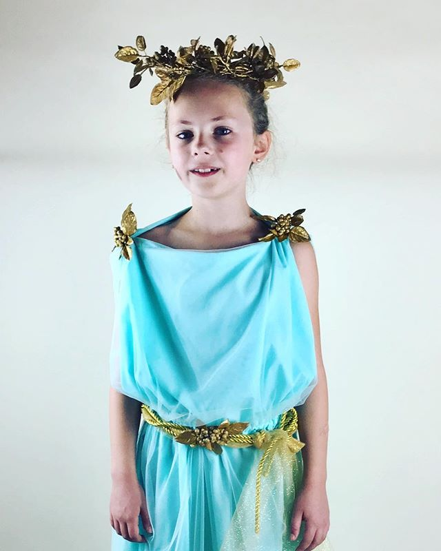 Persephone!! A custom costume for an 8 year old Greek mythology buff! #bygoldenstar #persephone #greekgoddess #customcostume #handmadehalloween #madeinnewemgland