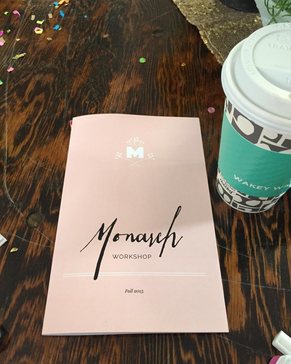 My precious Monarch Workshop Flutter Book!