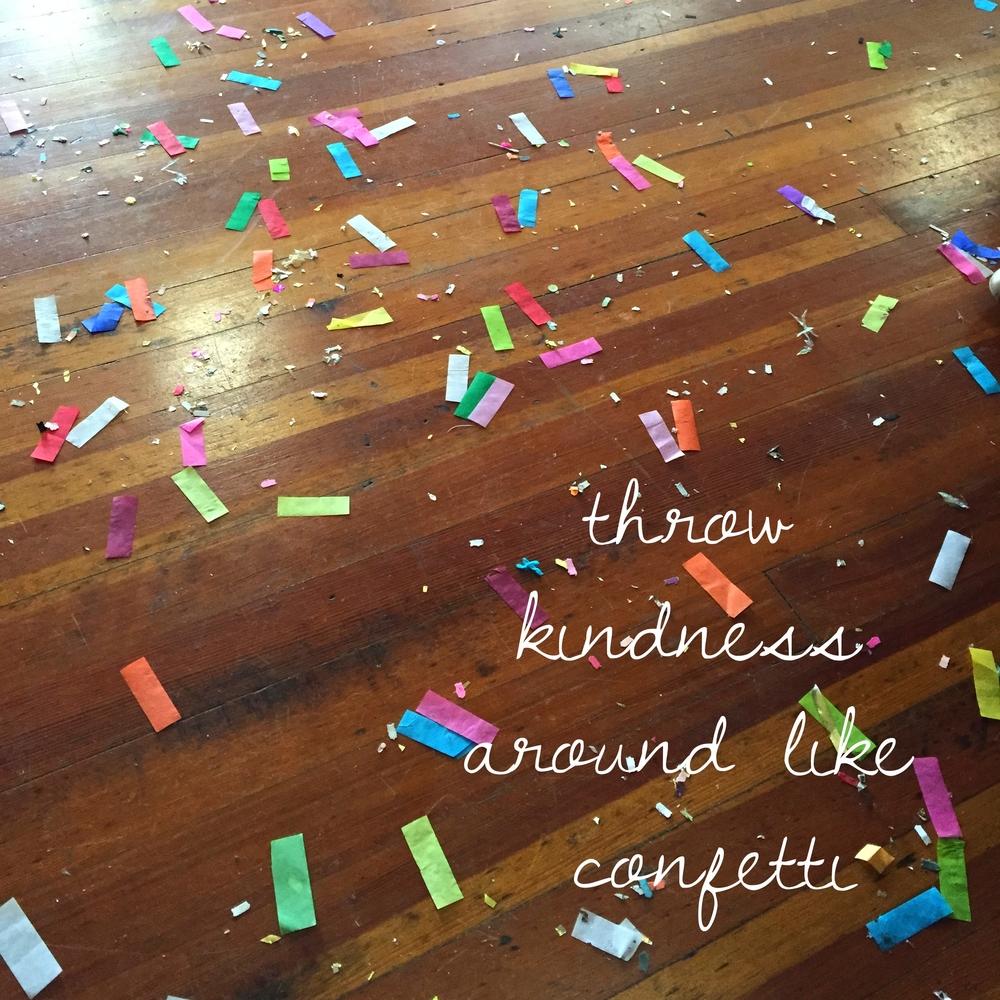 Confetti was everywhere!