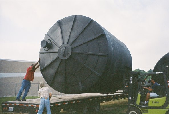 This very large 10,000 gallon tank will hold a years worth of Laundry Water that can be used for Landscape Irrigation