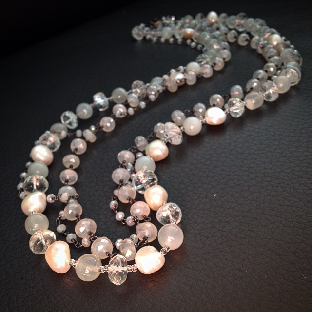 Phyllis Clark's Moonstone and Pearl Necklace
