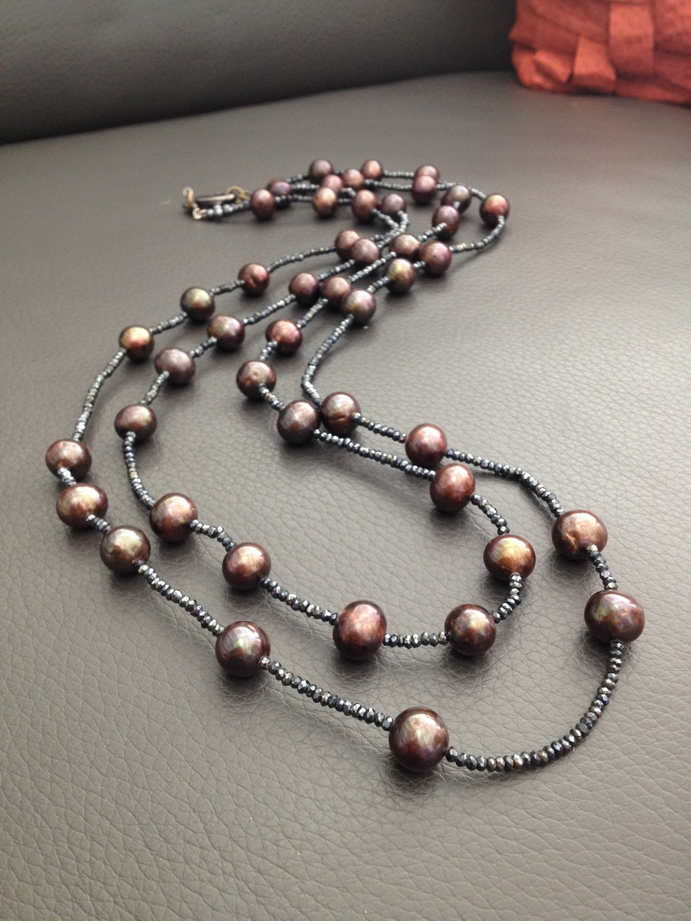 Pearl and hematite necklace #jewelry #necklace #phyllisclark