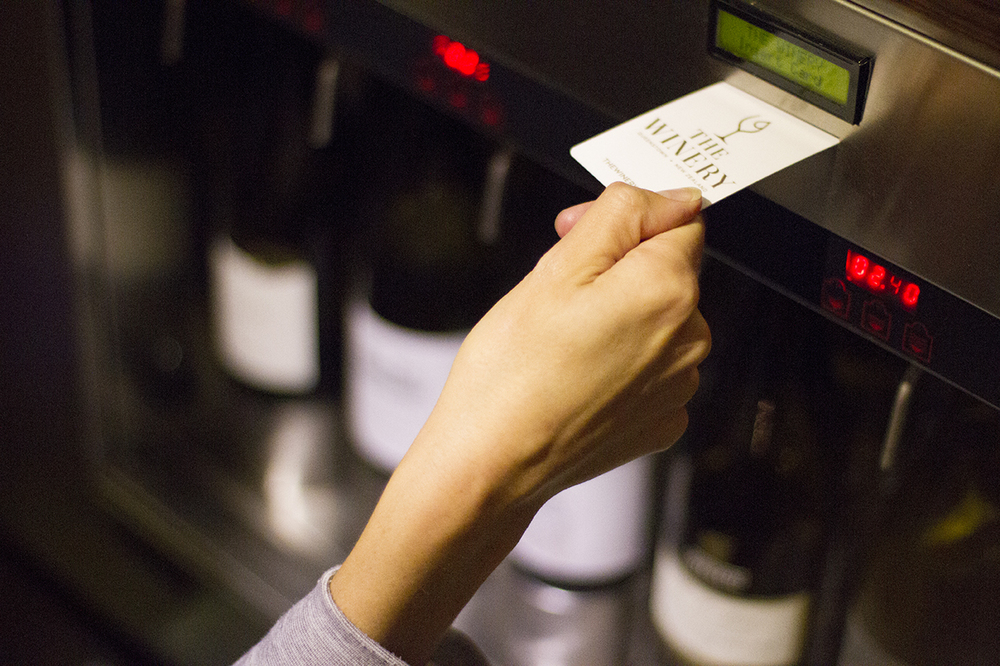 2.     Insert your Wine Tasting Card into the tasting machine