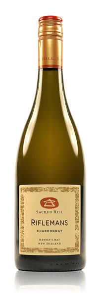 "SACRED HILL RIFLEMANS CHARDONNAY 2015 ""It's not overly buttery, but it's balanced with some smooth minerality and a smokey finish. It's the mac-daddy of NZ chardonnays!"""
