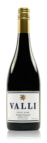 "VALLI WAITAKI PINOT NOIR 2015   ""Big ripe plums and a silky palate. Its soft and gorgeous and something to curl up in front of the fire with."""
