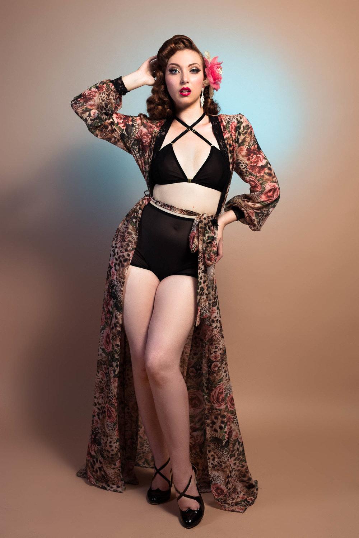 Sheer Glamour Dressing Gown — Arnavaz Lindsay