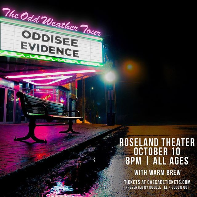 Y'all going to #theoddweathertour tho?! Tomorrow night at the @roselandpdx. All ages - see you there! @doubletconcerts @souldoutmusic