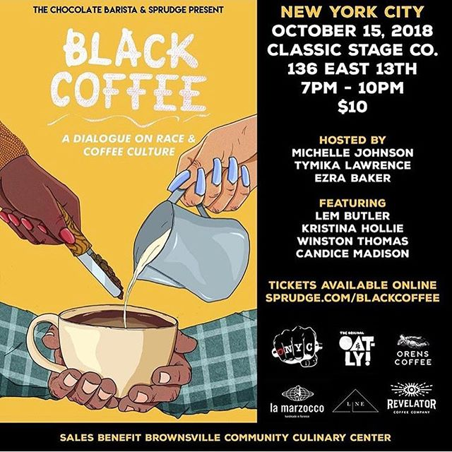 Oooooooh y'all it's time. East coast you're bout to get blessed! Jump to @sprudge to cop tickets. Don't sleep on none of this!! #realblackcoffee #blackcoffeenyc #blackcoffeedc @thechocolatebarista