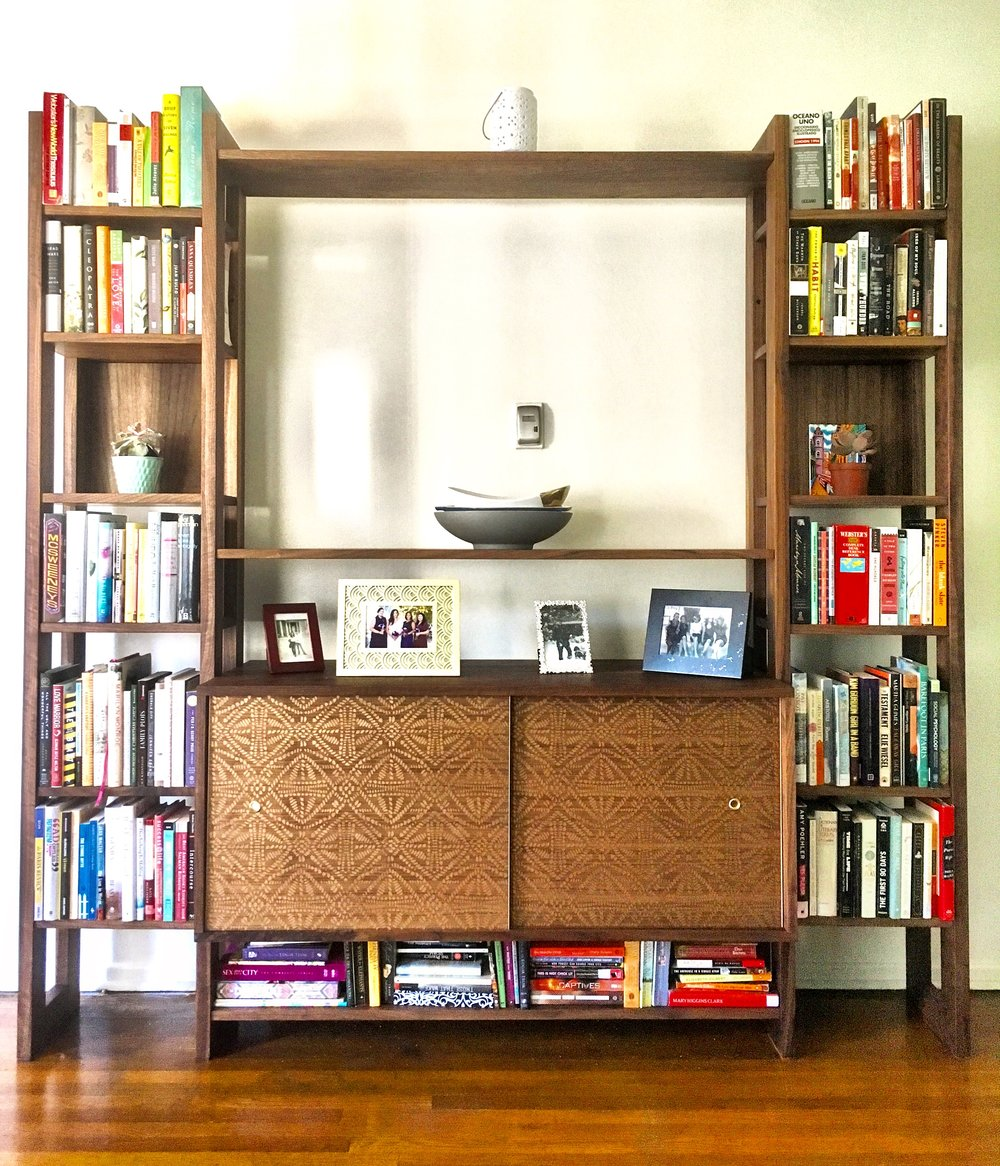 Walnut Mid-Century Entertainment Center