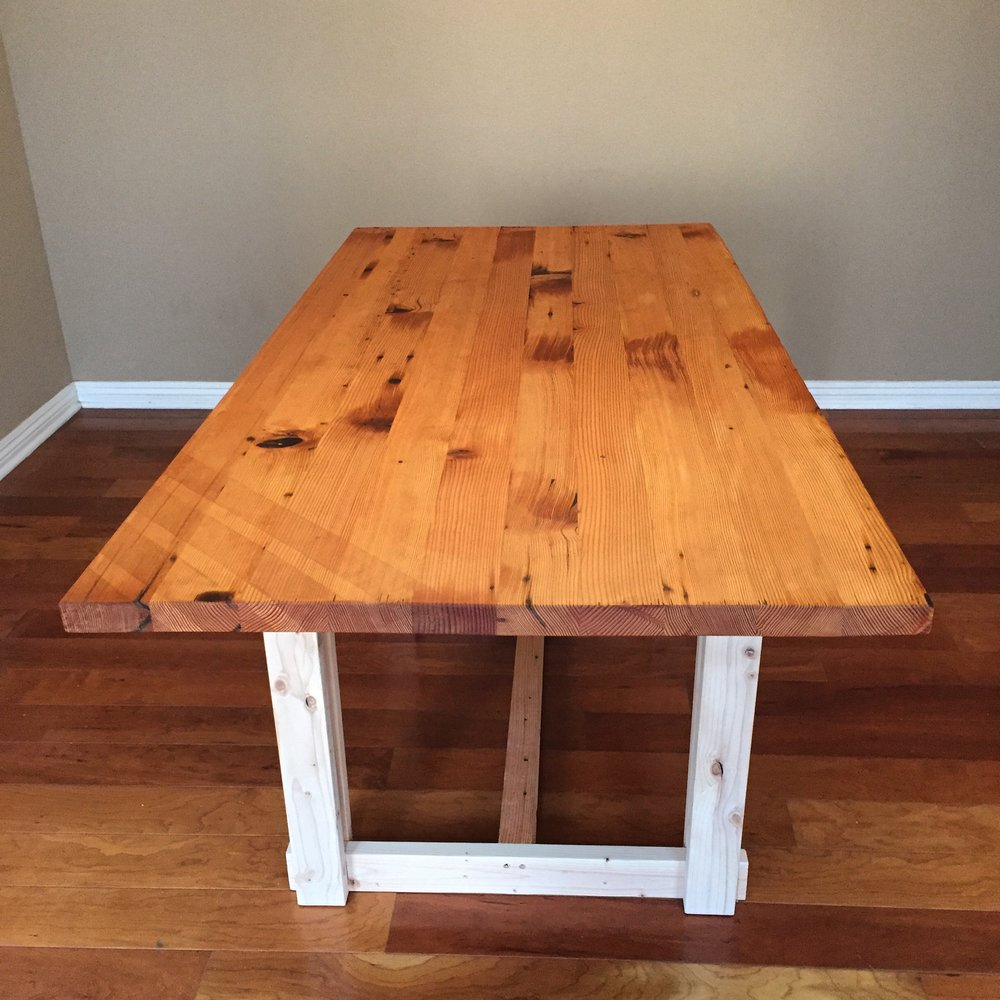 Reclaimed Doug Fir and Pine Dining Table