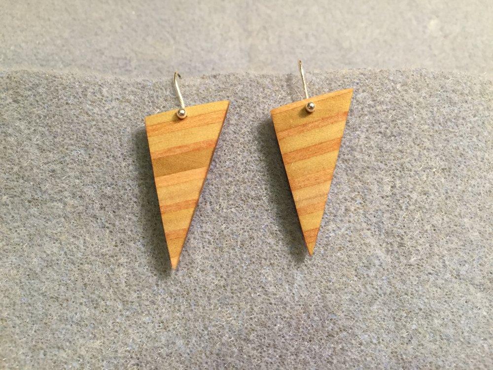 Poplar and Birch Triangle Earrings