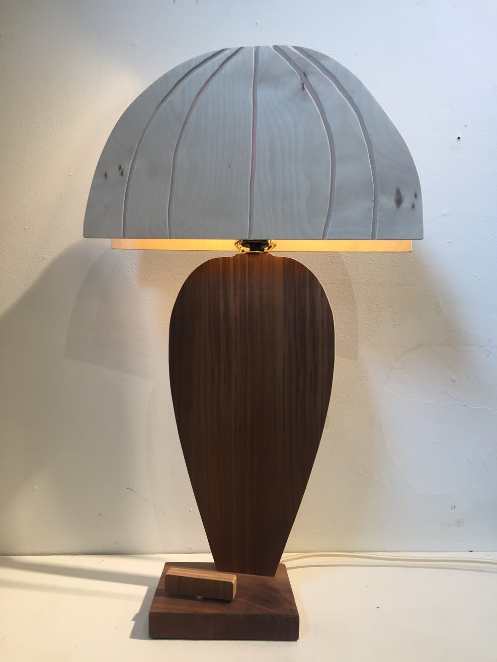 Walnut Flat Lamp