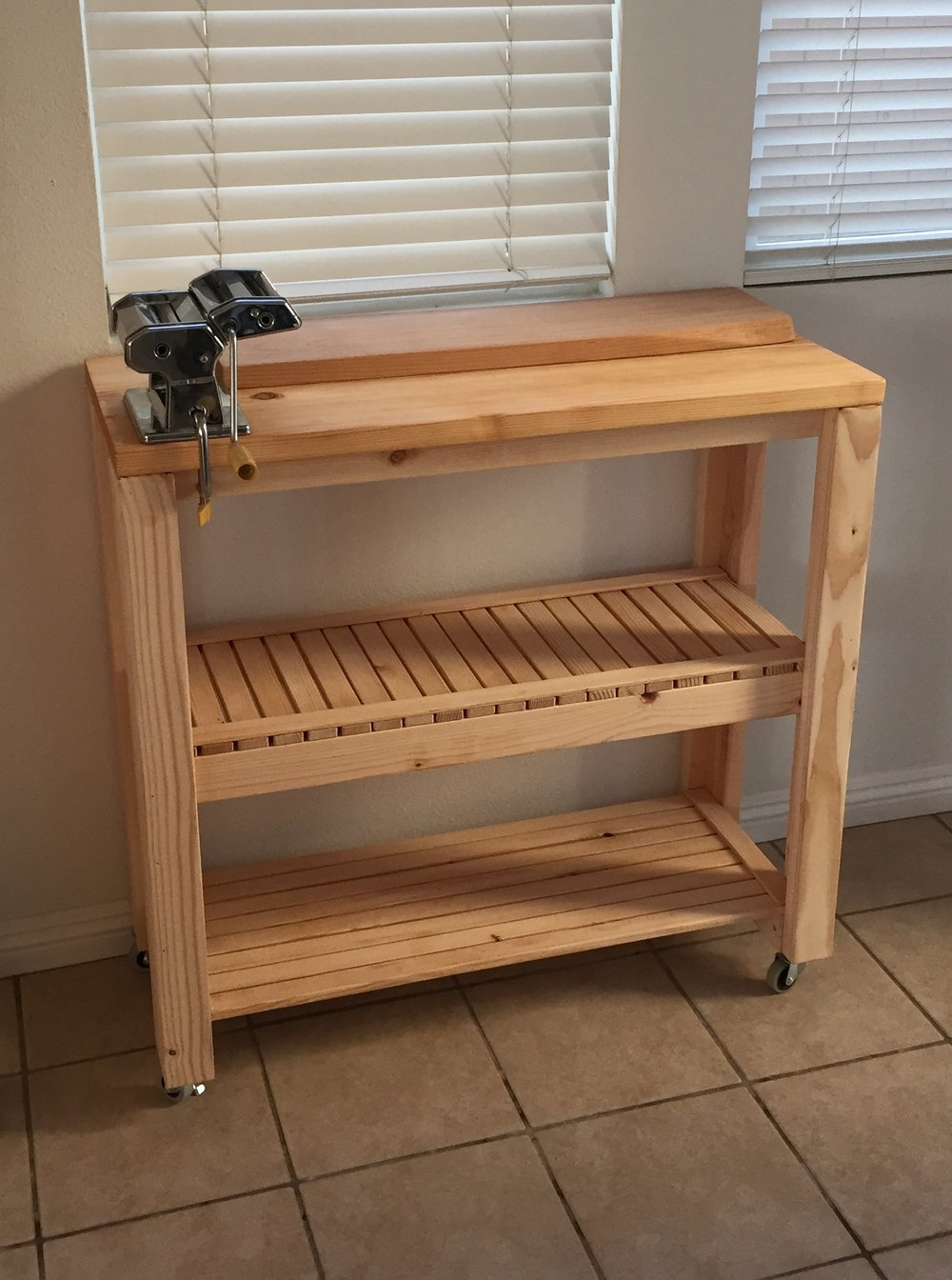 Pine Rolling Kitchen Prep Station