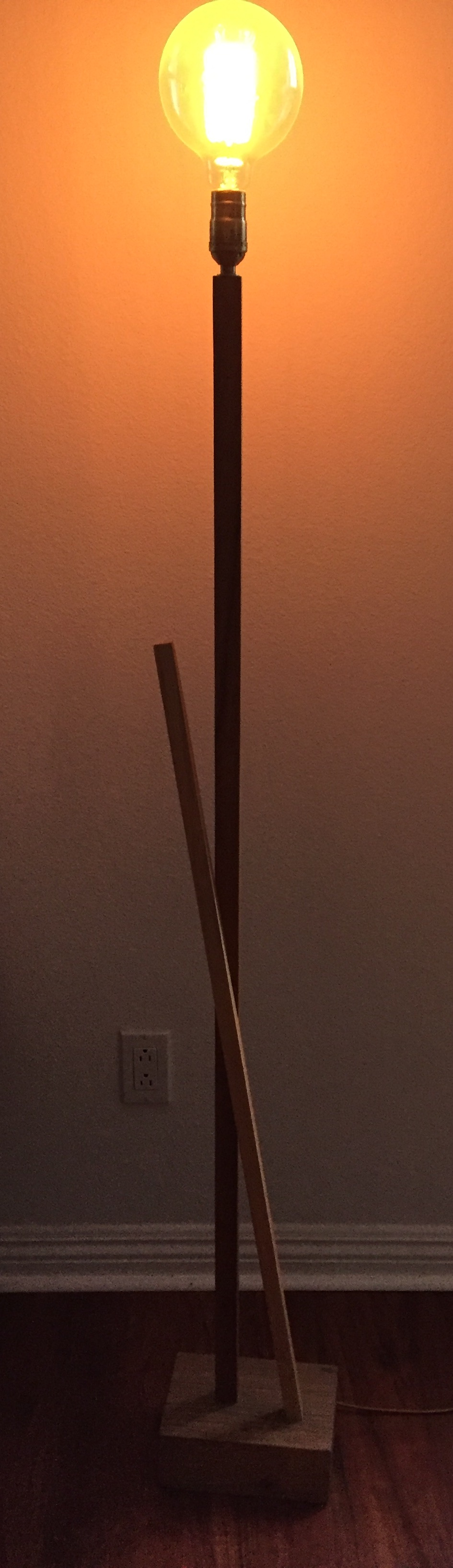 Poplar, Birch, and Reclaimed Doug Fir Floor Lamp