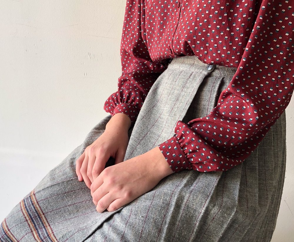 OUT WITH THE NEW… - VINTAGE PREPPY PLEATED SKIRT NOW $27