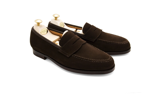 27dab5d44dd Crockett   Jones Boston Penny Loafer – Dark Brown Suede — Sky Valet ...