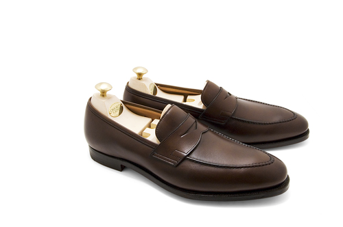 a2239ac707f Crockett   Jones Sydney Penny Loafer – Dark Brown Burnished Calf ...