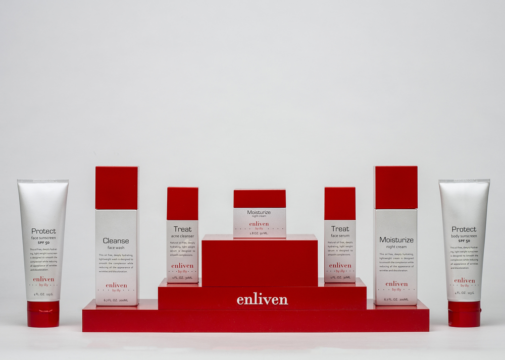 Enliven skin care line