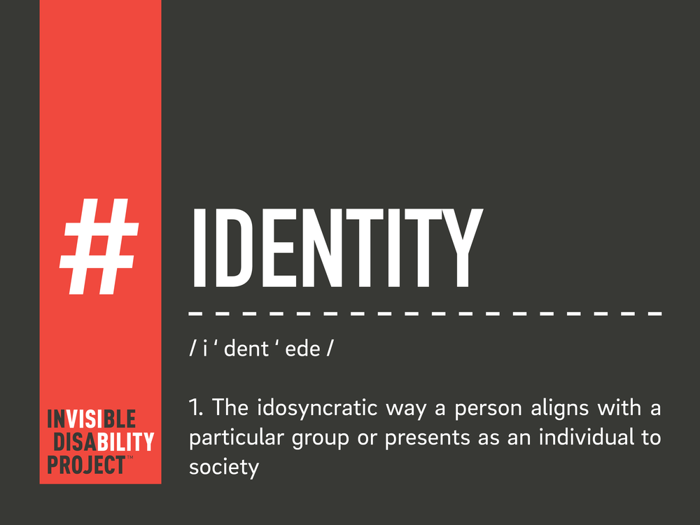Identity. The idiosyncratic way a person aligns with a particular group or presents as an individual to society