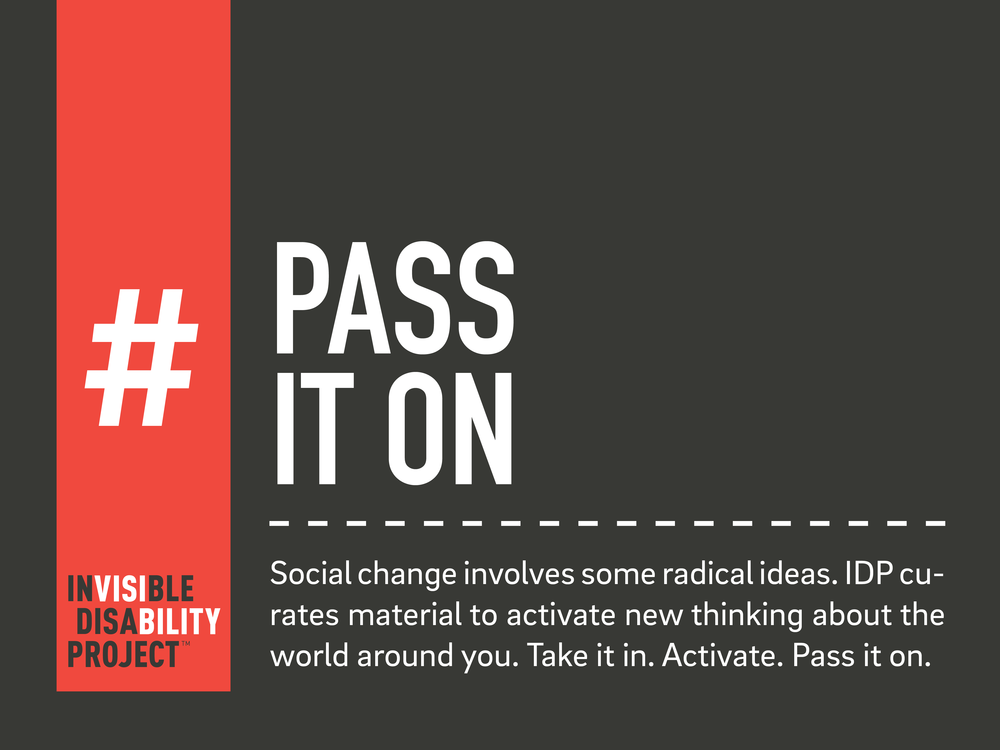 Pass it On. Social change involves some radical ideas. IDP curates material to activate new thinking about the world around you. Take it in. Activate. Pass it on.