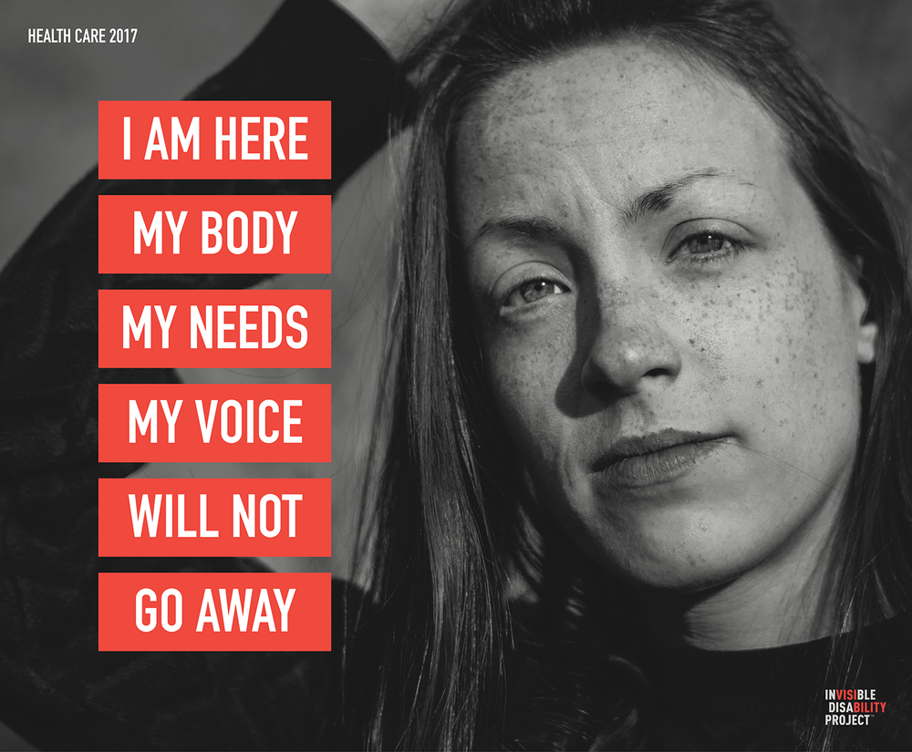 I am here. My body, my needs, my voice will not go away.