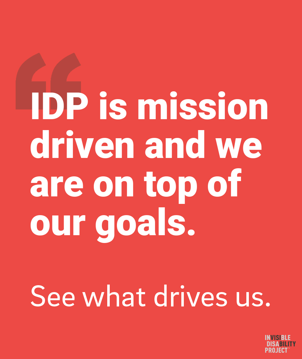 IDP is mission driven and we are on top of our goals. See what drives us.