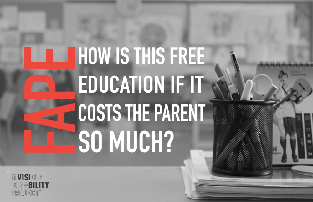 FAPE: How is this free if it costs the parent so much?