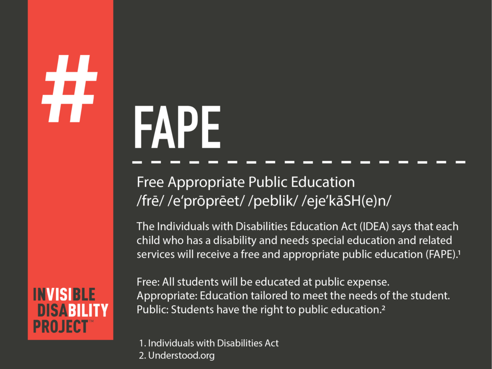 FAPE: Free Appropriate Public Education
