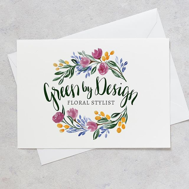 LOGO DESIGN // This pretty lil number for @greenbydesignfloralstylist. Just the right amount of wild!