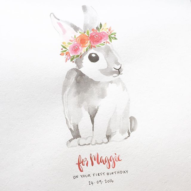 Hoppy Easter everybunny. 🐰 (Flashback to this pretty little bunny I created as a first birthday gift a little while back).