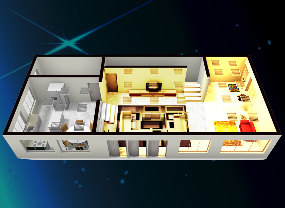 SmartZone Smart Home Advance 3D FloorPlan. Advance 3D Control