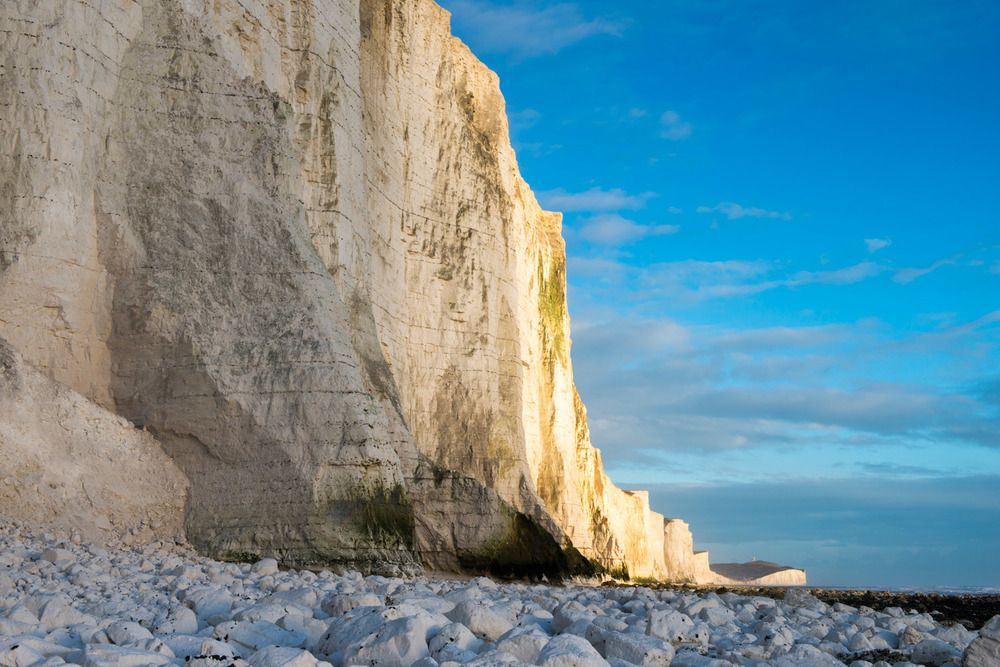 Seven Sisters from the west, Sussex, England