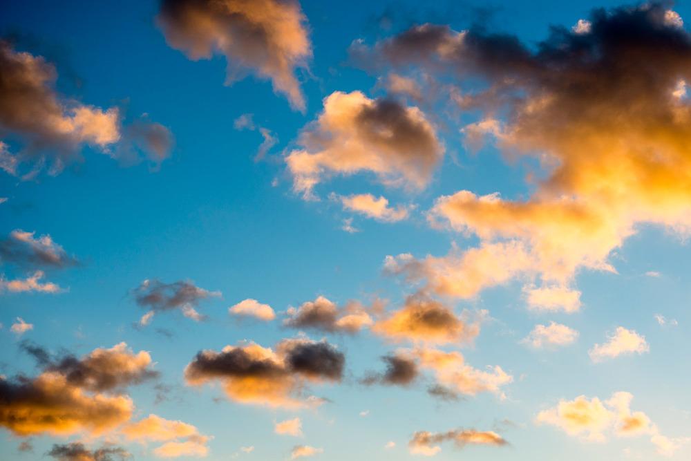 Twilight clouds, Sussex Weald, England