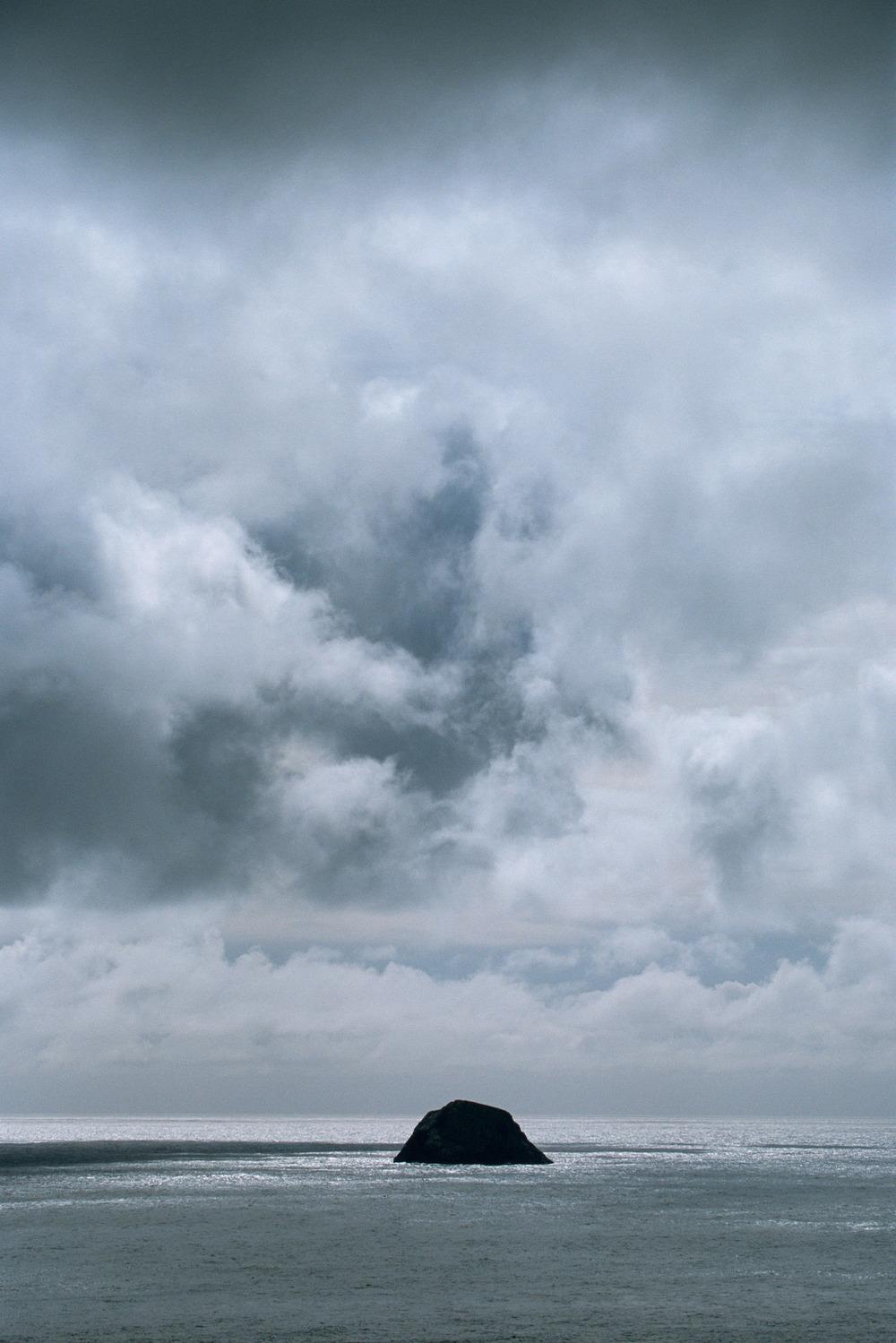 Levenish under storm cloud, St Kilda Archipelago, Scotland