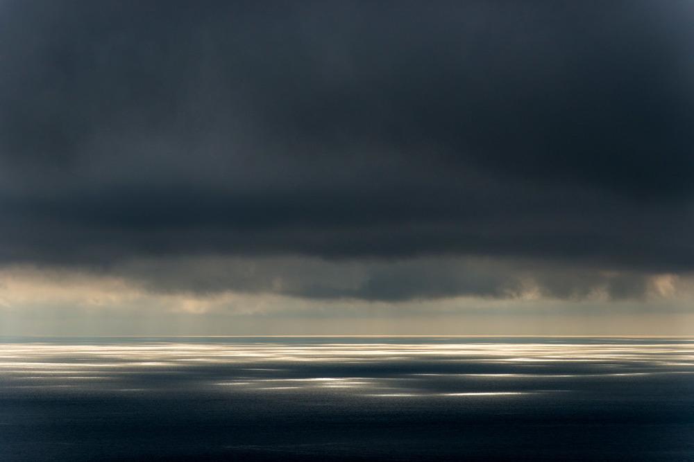 Sunlight dappling North Atlantic Ocean, Hermaness National Nature Reserve, Unst, Shetland Islands, Scotland