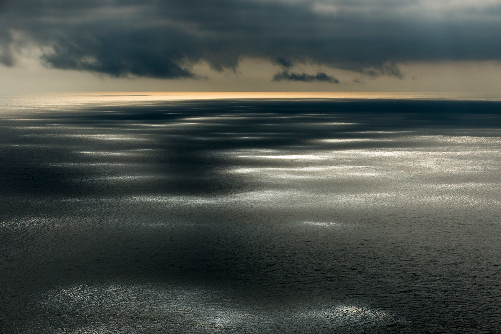 Sunlight dappling North Atlantic Ocean, Hermaness National Nature Reserve, Unst, Shetland Islands, Scotland