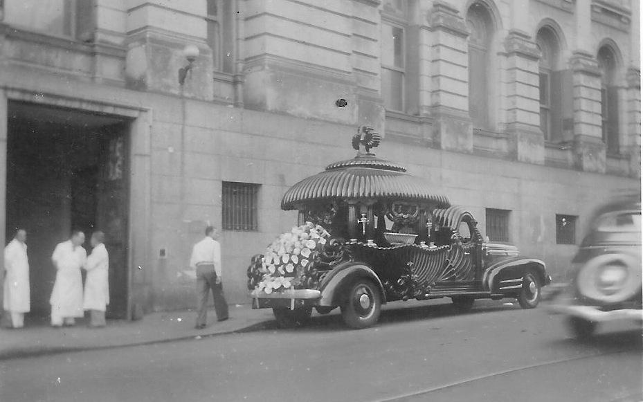 Thomas Martin's funeral Car. Argentina, 1951.