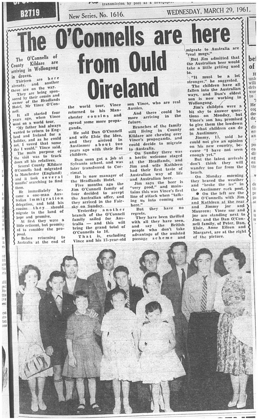 The Illawarra Mercury, 29 Mar 1961. Page 1.