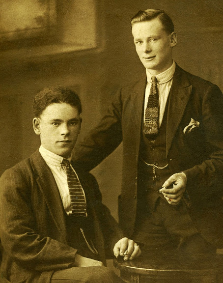 James Gettings on left, man on right, unknown.