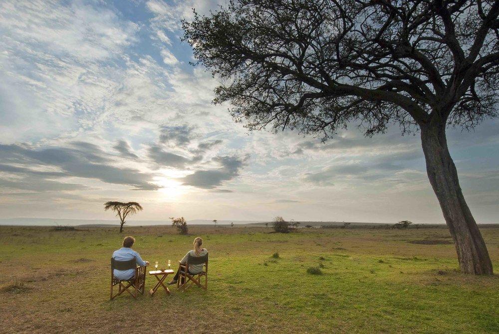 Sundowners on the plains...