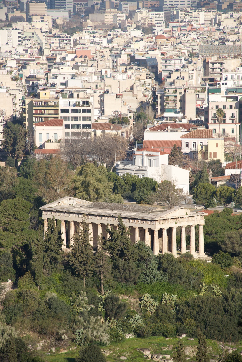 Temple of Hephaistos in park beside suburbs.jpg
