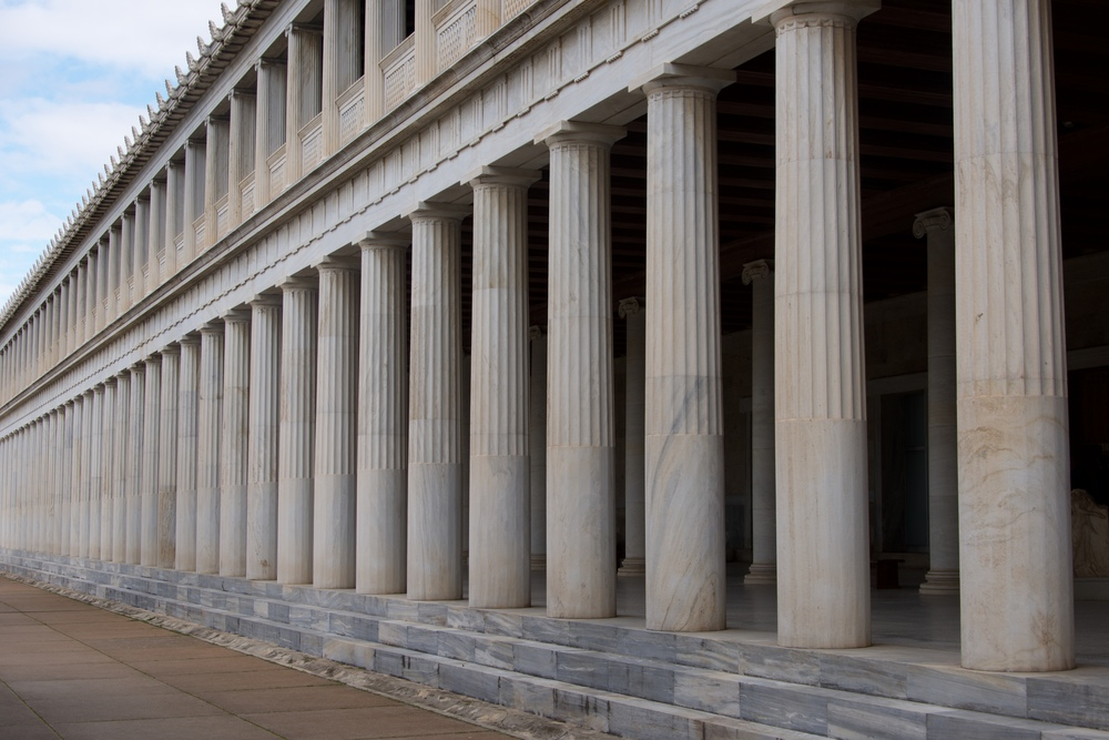 Stoa of Attalos with two marble colonnades.jpg