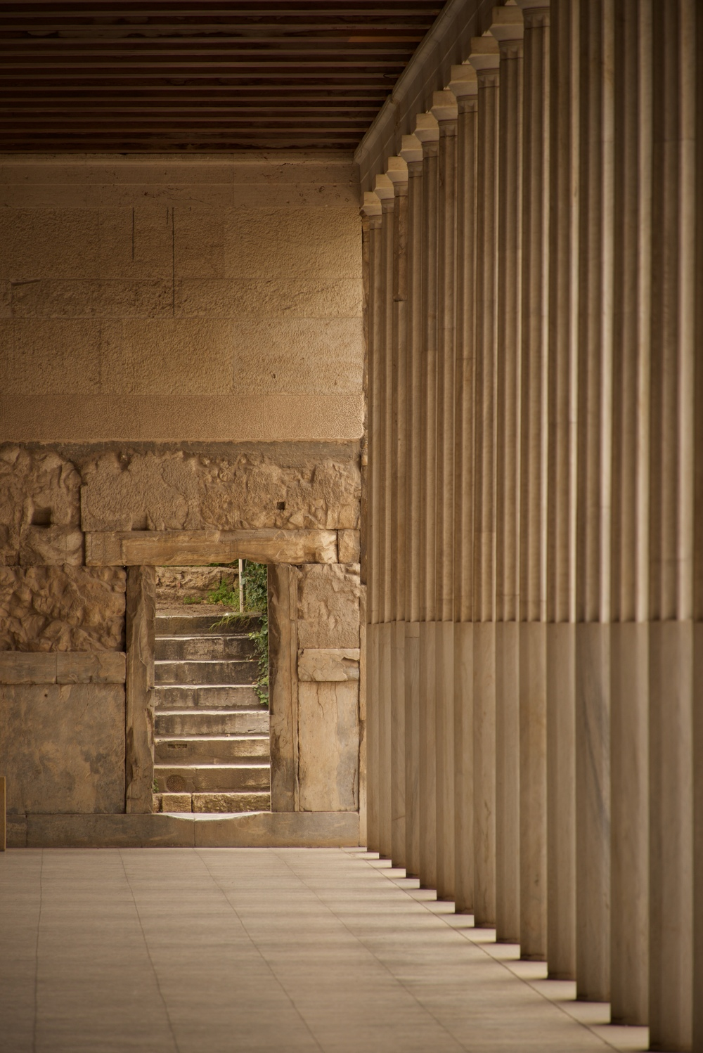 Stone steps beside Stoa of Attalos colonnade.jpg