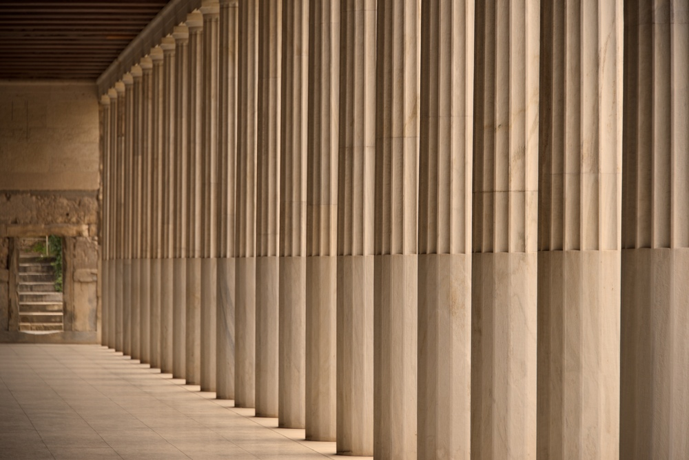 Colonnade and steps inside Stoa of Attalos.jpg
